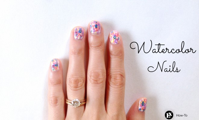 Nail Art How-To: Watercolor Nails