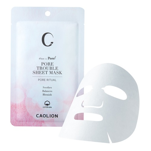 Closeup   8. caolion pore trouble sheet mask 2 web