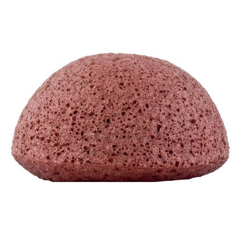 Closeup   konjac sponge facial puff french red clay web