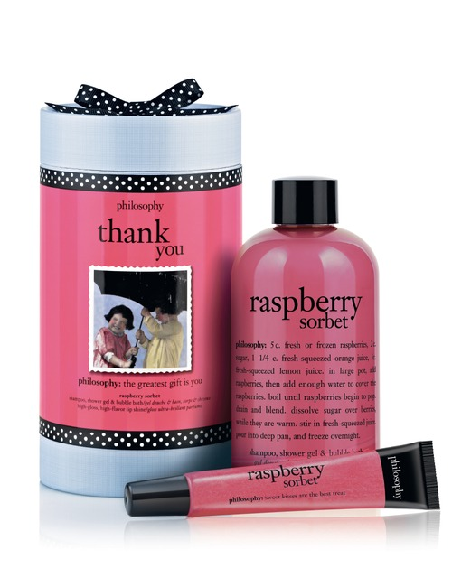 buy philosophy thank you raspberry sorbet gift set 240ml and 12ml sephora. Black Bedroom Furniture Sets. Home Design Ideas